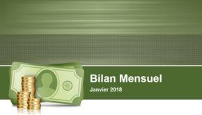 bilan du mois de janvier 2018